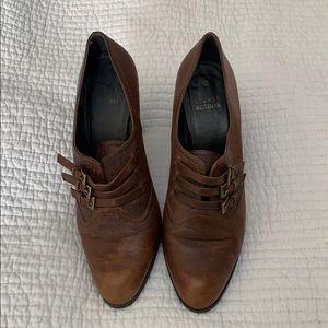 Stuart Weitzman Brown Leather Booties/Heels